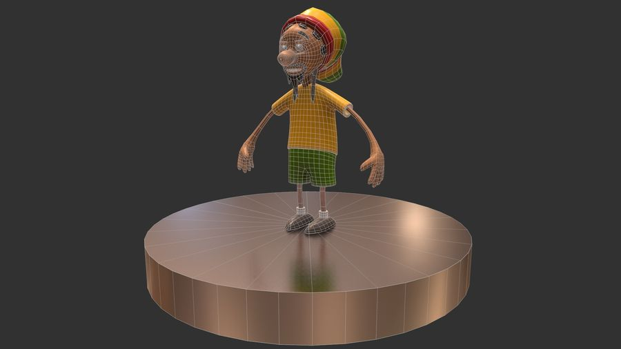 Carácter Toon royalty-free modelo 3d - Preview no. 12