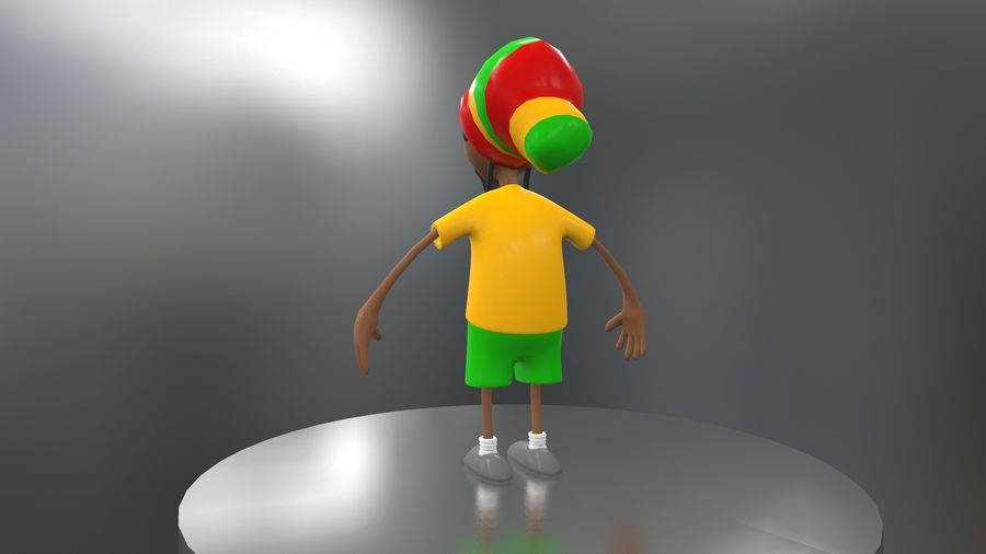 Carácter Toon royalty-free modelo 3d - Preview no. 18