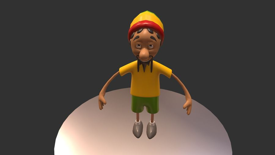 Carácter Toon royalty-free modelo 3d - Preview no. 10