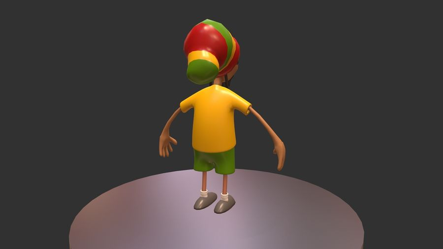 Carácter Toon royalty-free modelo 3d - Preview no. 8