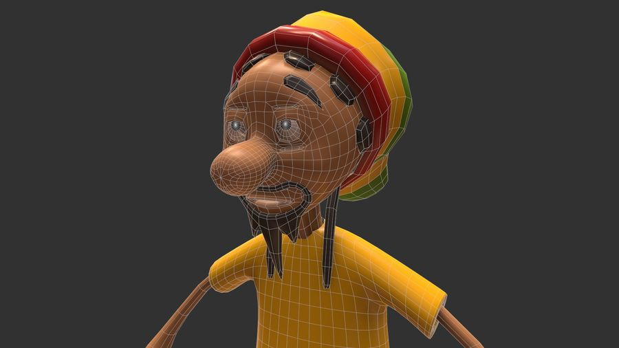 Carácter Toon royalty-free modelo 3d - Preview no. 14