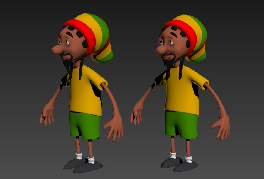 Carácter Toon royalty-free modelo 3d - Preview no. 2