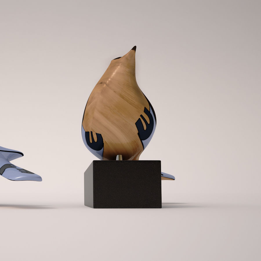 Antique Bird royalty-free 3d model - Preview no. 5