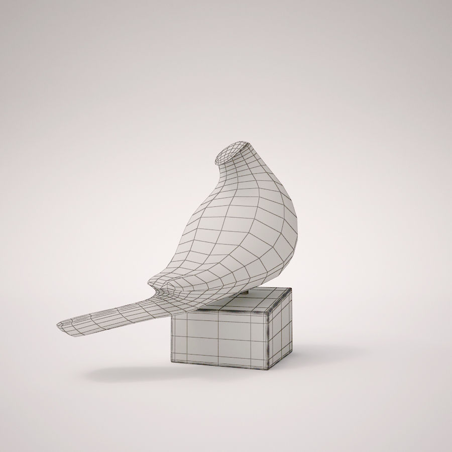 Antique Bird royalty-free 3d model - Preview no. 6