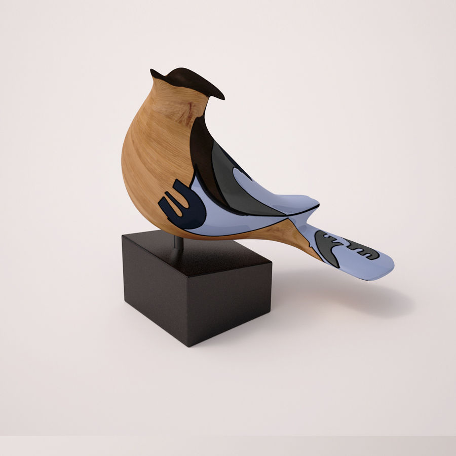 Antique Bird royalty-free 3d model - Preview no. 1