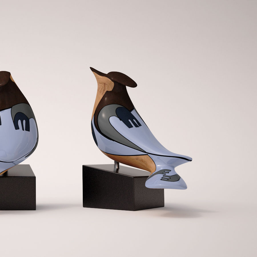 Antique Bird royalty-free 3d model - Preview no. 4