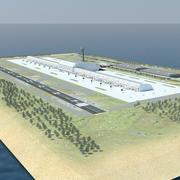 国際空港 3d model