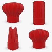 Kochmütze (rot) Kollektion 3d model