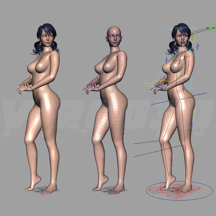 Female Base Body royalty-free 3d model - Preview no. 30
