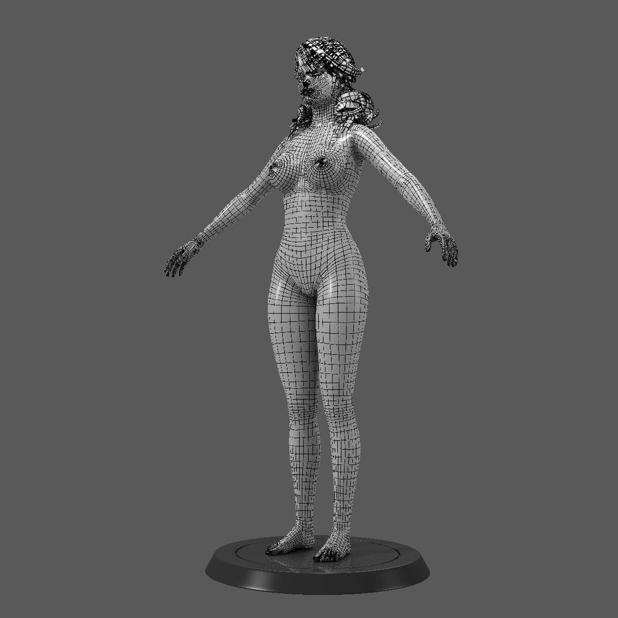 Female Base Body royalty-free 3d model - Preview no. 4