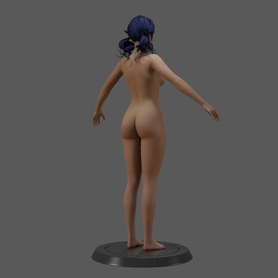 女性基础 royalty-free 3d model - Preview no. 19