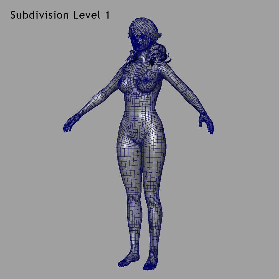 Female Base Body royalty-free 3d model - Preview no. 24