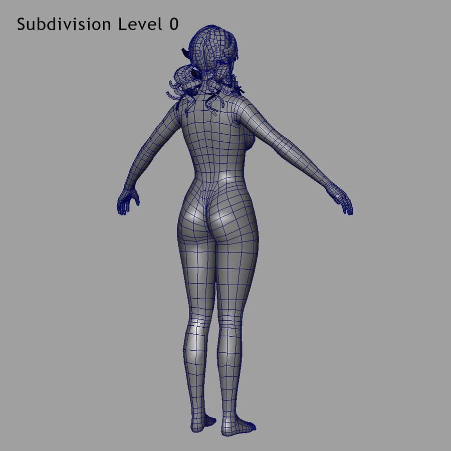 Female Base Body royalty-free 3d model - Preview no. 9