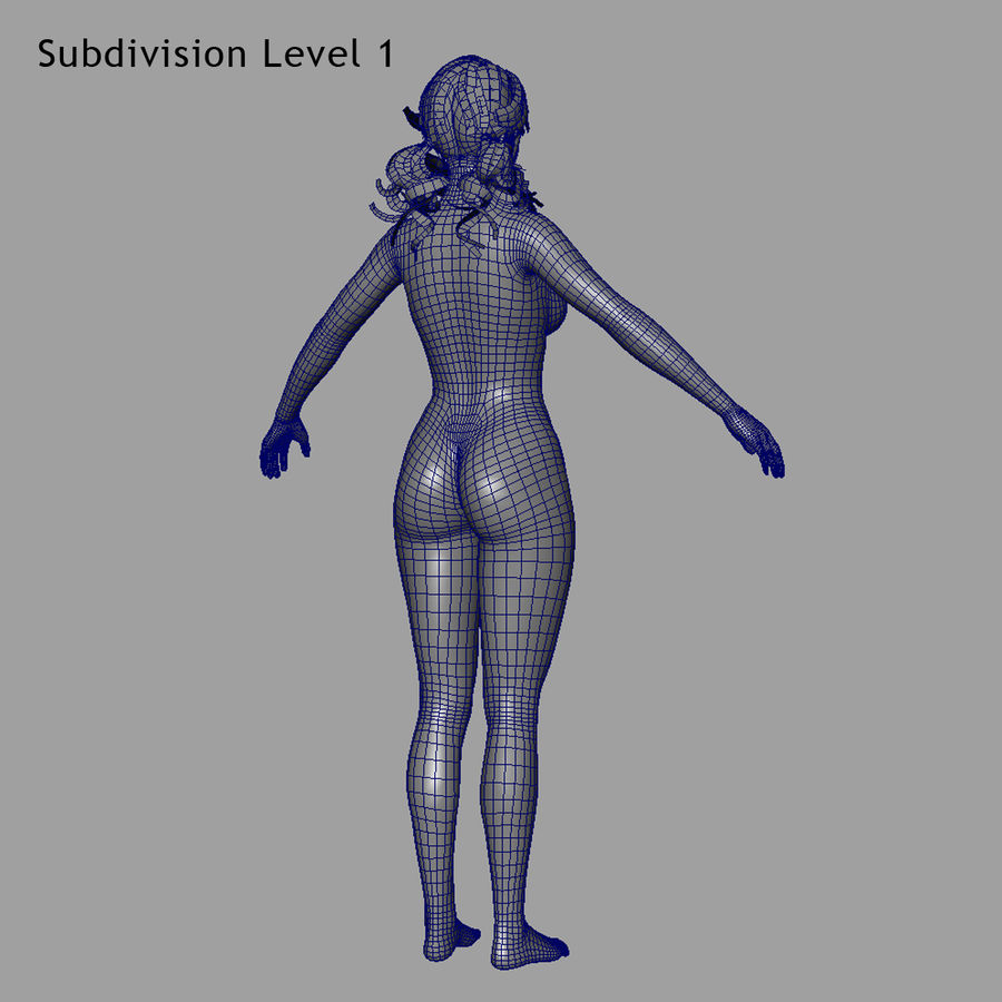 Female Base Body royalty-free 3d model - Preview no. 23