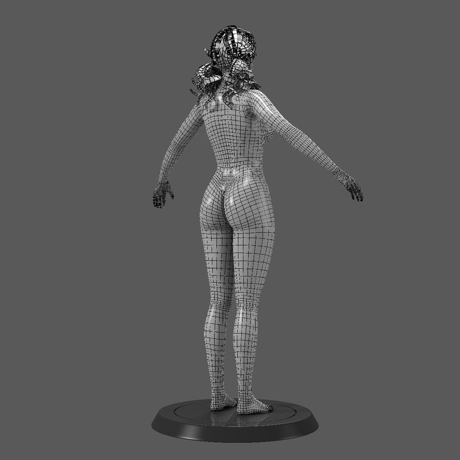 女性基础 royalty-free 3d model - Preview no. 6