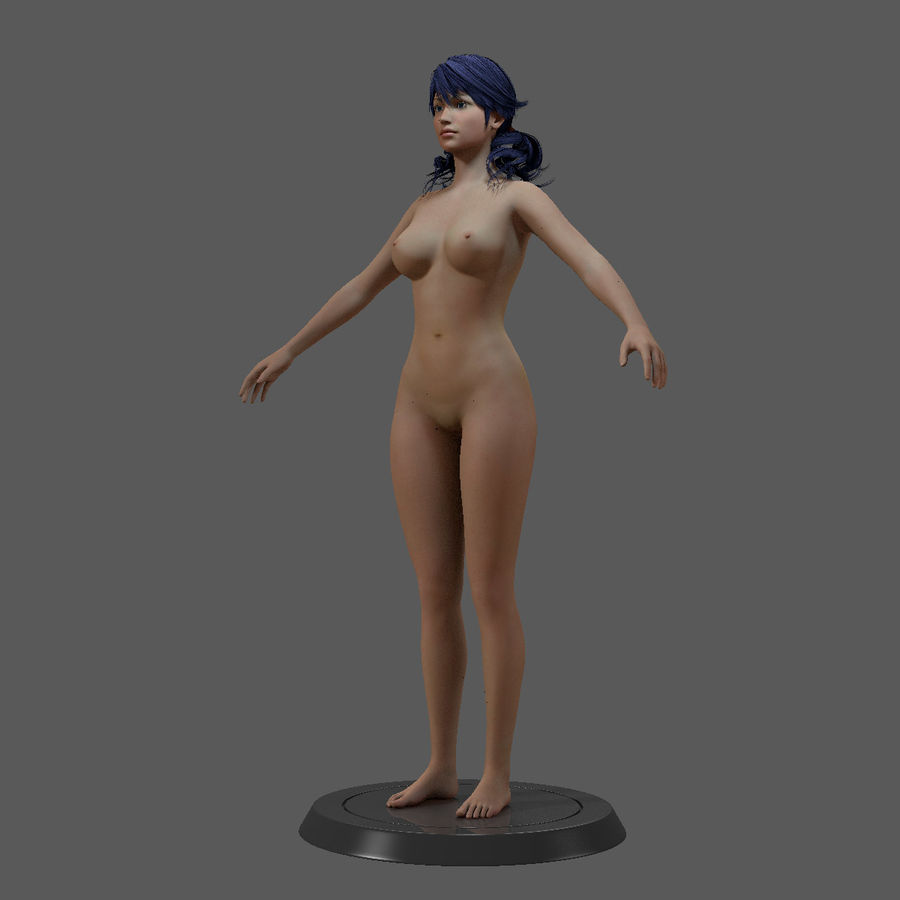 女性基础 royalty-free 3d model - Preview no. 18