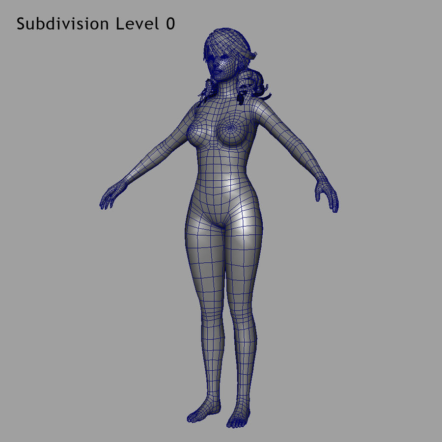 Female Base Body royalty-free 3d model - Preview no. 10