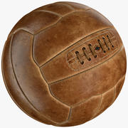 Vintage voetbal 3d model