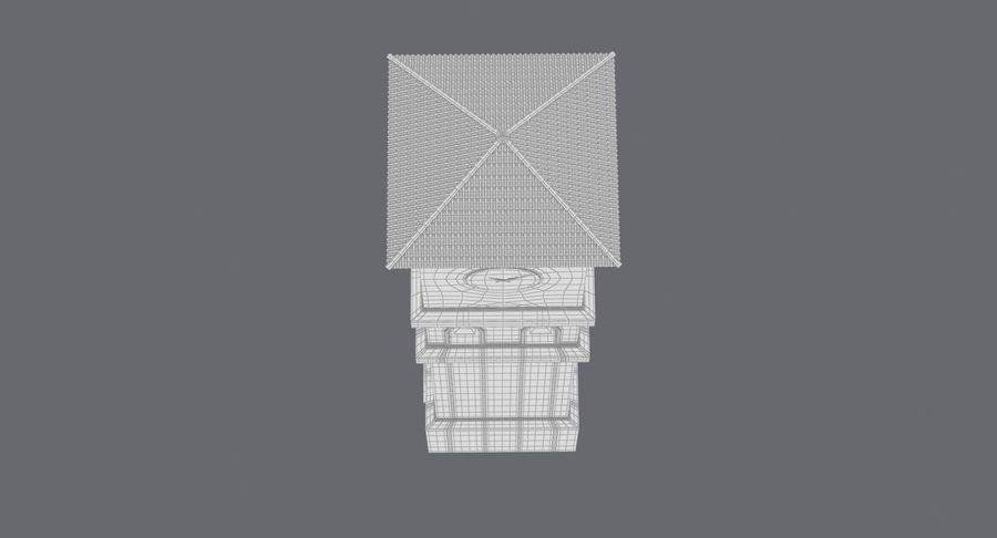 Wieża zegarowa royalty-free 3d model - Preview no. 18