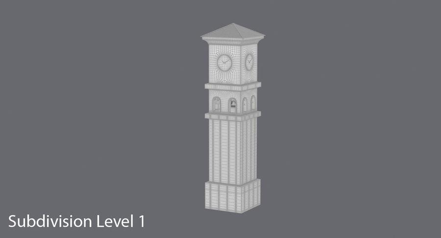 Wieża zegarowa royalty-free 3d model - Preview no. 17