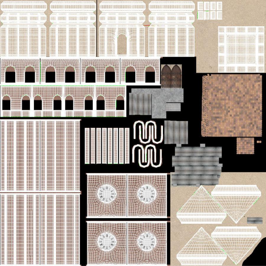 Wieża zegarowa royalty-free 3d model - Preview no. 21