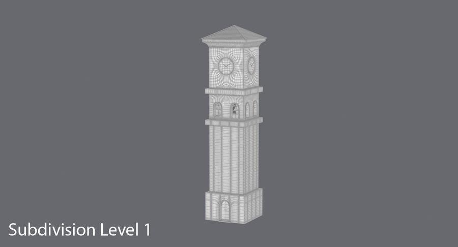 Wieża zegarowa royalty-free 3d model - Preview no. 15