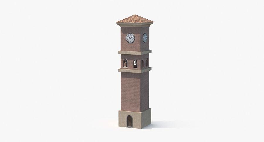 Wieża zegarowa royalty-free 3d model - Preview no. 2
