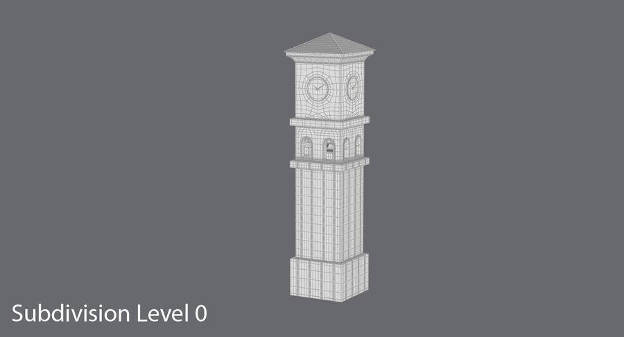 Wieża zegarowa royalty-free 3d model - Preview no. 16