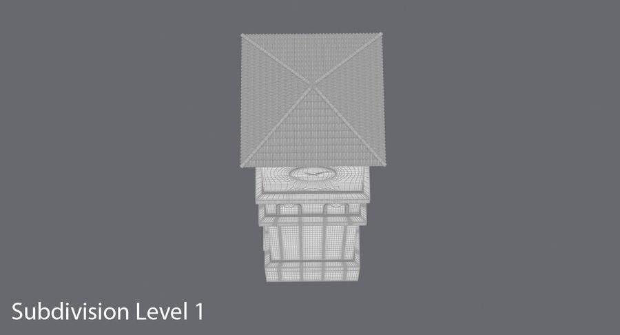 Wieża zegarowa royalty-free 3d model - Preview no. 13