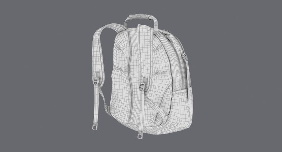 Backpack royalty-free 3d model - Preview no. 19