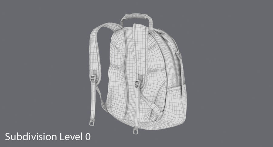 Backpack royalty-free 3d model - Preview no. 15