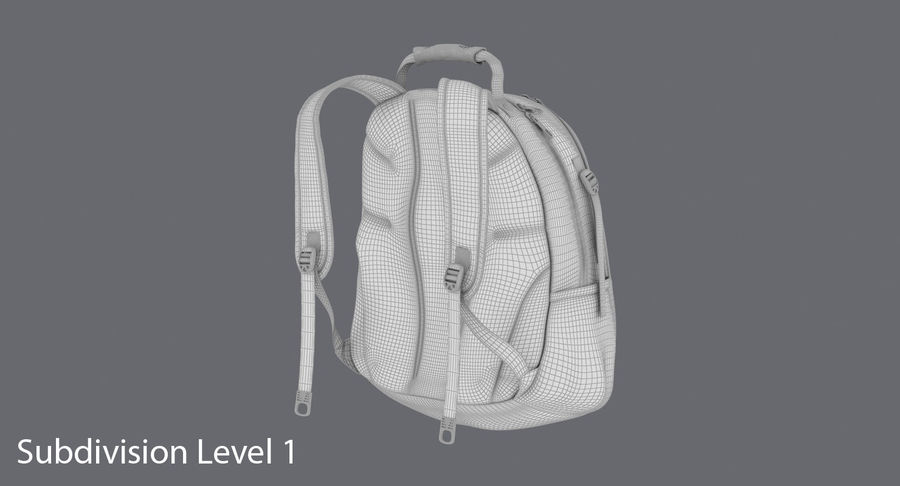 Backpack royalty-free 3d model - Preview no. 16