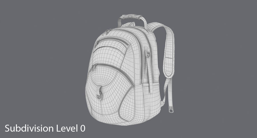Backpack royalty-free 3d model - Preview no. 11
