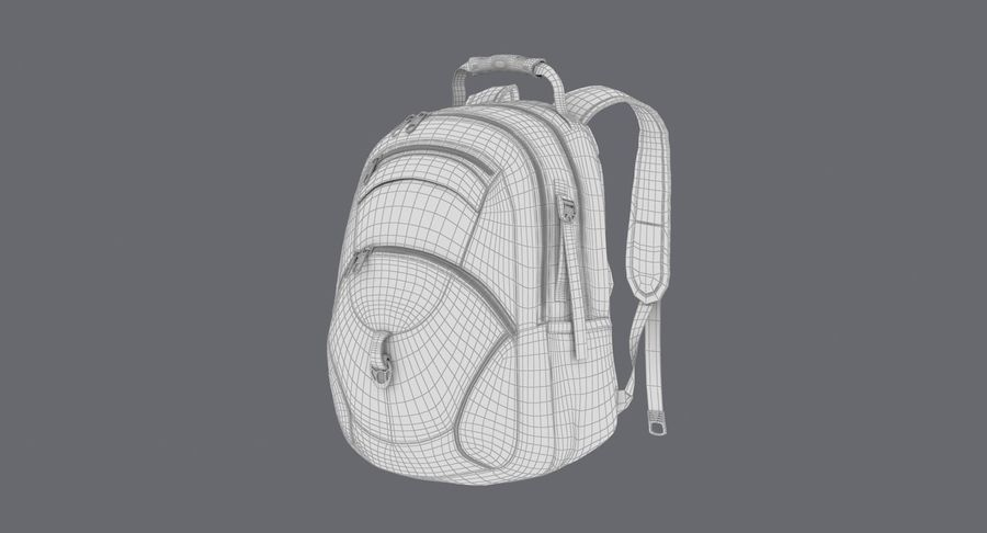 Backpack royalty-free 3d model - Preview no. 17