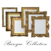 Colección de cuadros barrocos modelo 3d