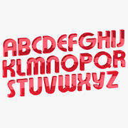 Font Alphabet Rigged 3d model