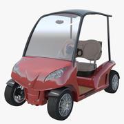 Golf Cart Garia Mansory Edition 3d model
