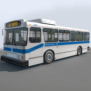 NYC BUS Low Res_Textured 3d model