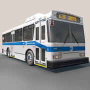 NYC BUS Without interior 3d model