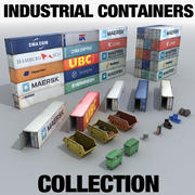 Industrial Containers Collection 3d model