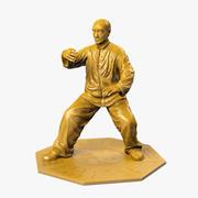 Kung Fu-standbeeld 3d model
