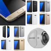 Samsung Galaxy S7 och S7 Edge alla färger och redskap 360 3d model
