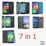 Coleção de modelos 3D para celulares Samsung 3d model