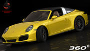 Porsche 911 Targa 4S 2016 (Low Interior) 3d model