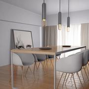столовая современная мебель 3d model