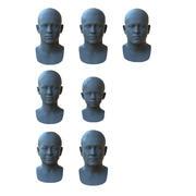 Yaşa Göre Gerçekçi İnsan Yüzleri 3d model
