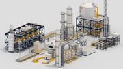 Kitbash d'usine 3d model