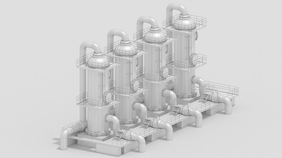 Factory Kitbash royalty-free 3d model - Preview no. 14