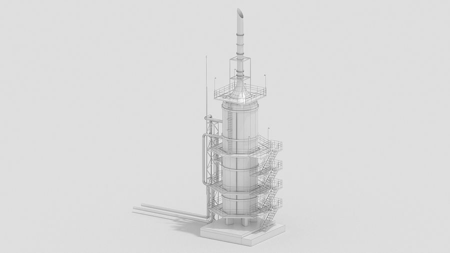 Factory Kitbash royalty-free 3d model - Preview no. 26