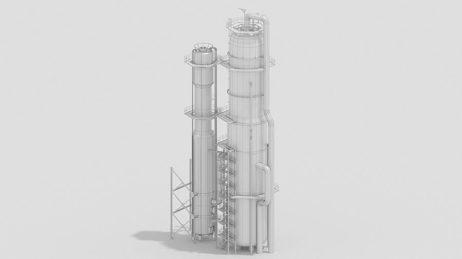 Factory Kitbash royalty-free 3d model - Preview no. 18